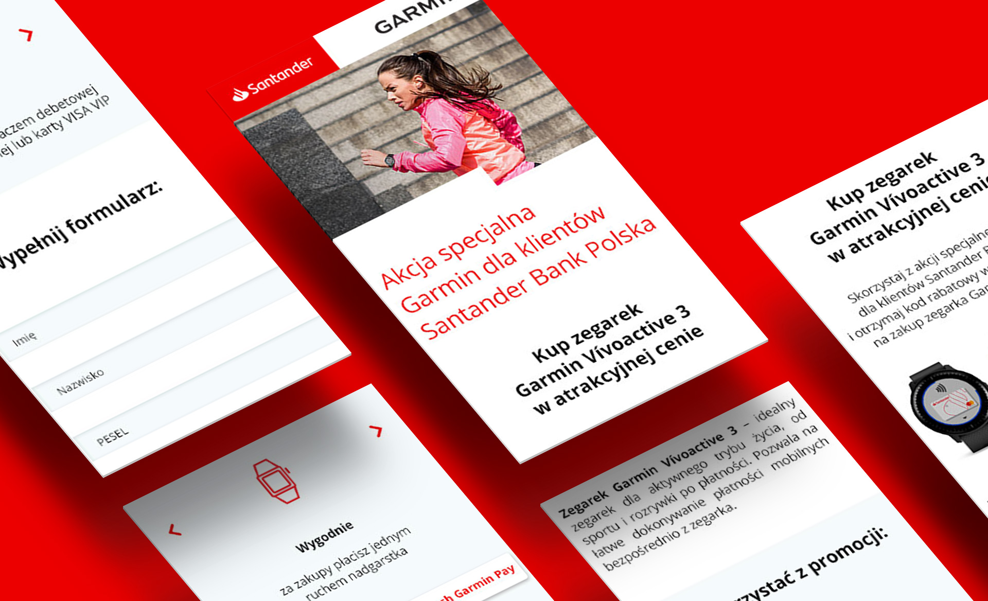 Santander and Garmin